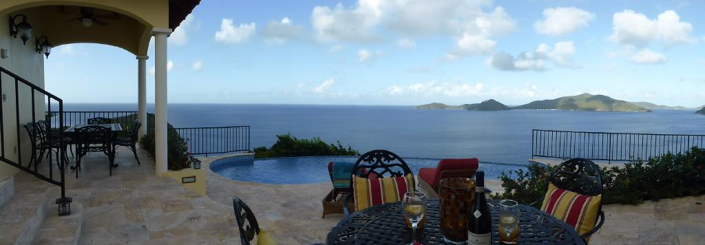 AnaCapri Estate Pool Deck overlooking Guana Island