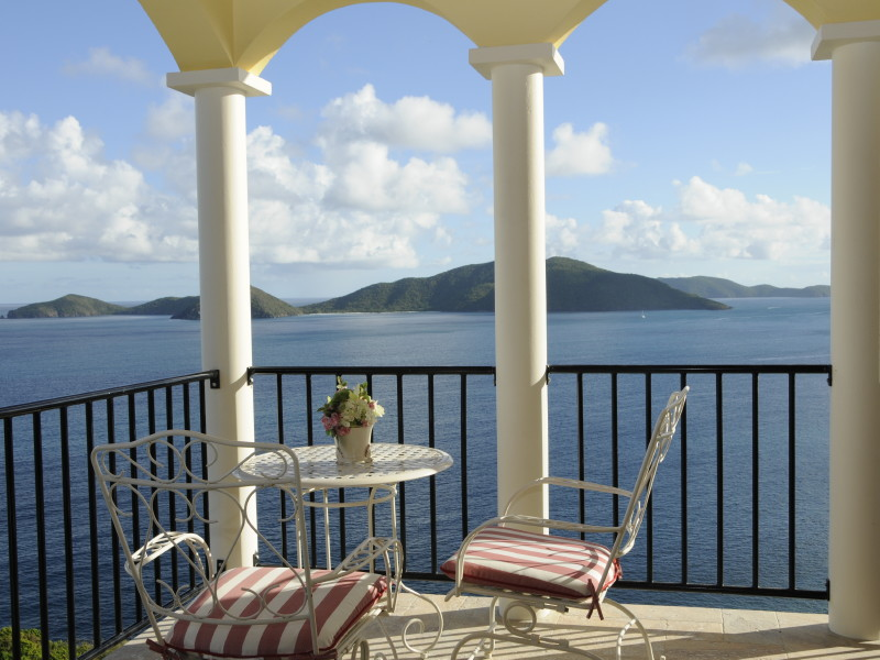 Guana Island, BVI - View from Master Bedroom porch of AnaCapri Estate
