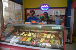 La Dolce Vita is a great air conditioned stop to cool off with your favorite gelato