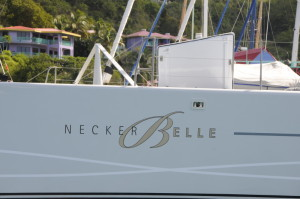 Necker Belle catamaran, part of Sir Richard Branson's Virgin Limited Collection in the British Virgin Islands