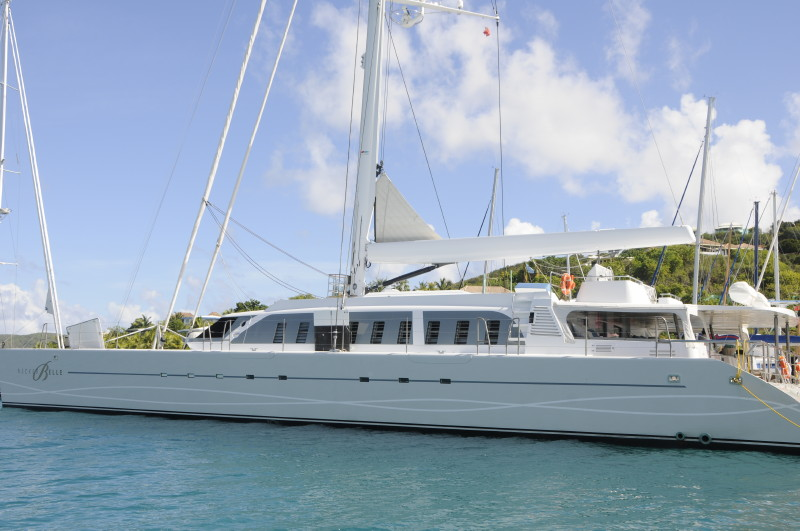 Necker Belle measures over 100 feet in length