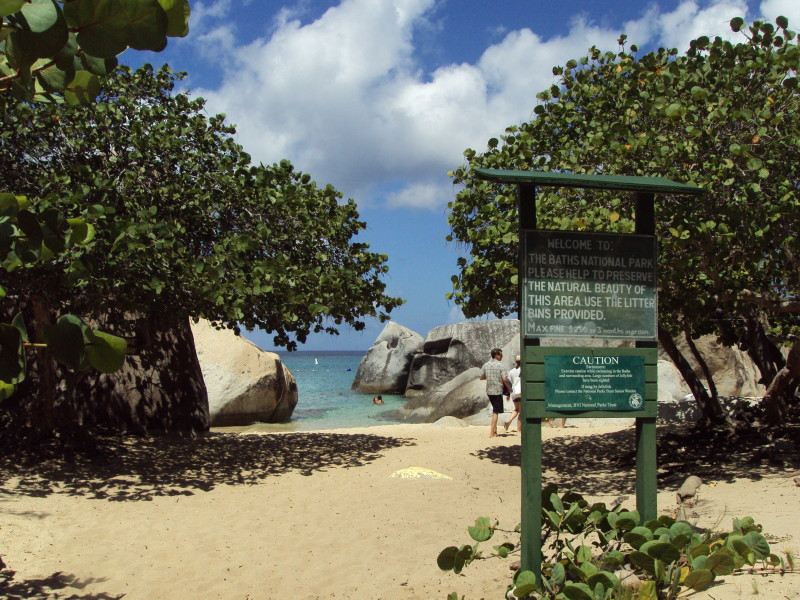 "The Baths, Virgin Gorda - take the long winding walk down to this entrance - ""The Caves"" are to the left"