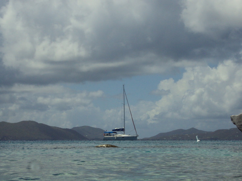 The Baths, Virgin Gorda - sailing off the coast of The Baths
