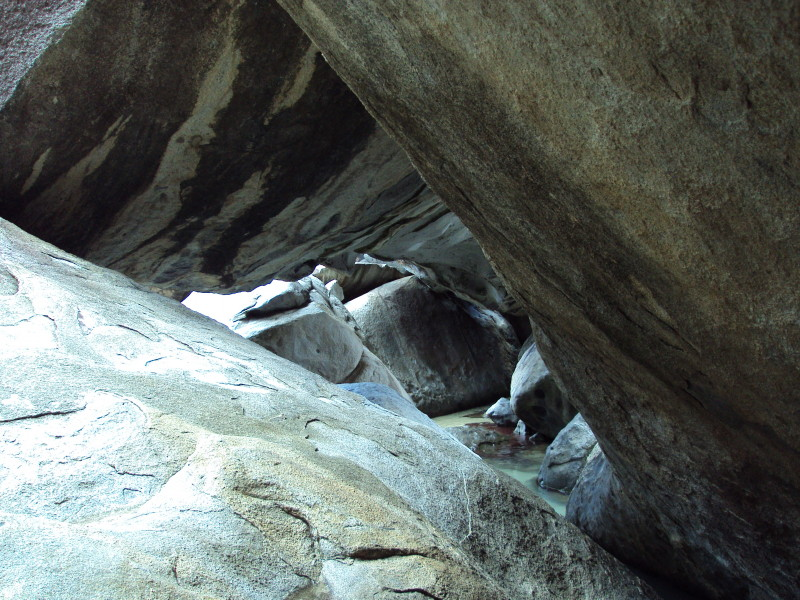 The Baths, Virgin Gorda - giant boulders forming a magnificent natural wonder