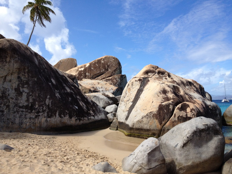 These boulders are located right at the base of the trail to The Baths and are great for climbing