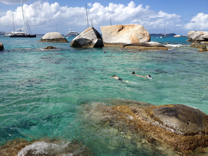 Snorkeling The Baths on Virgin Gorda